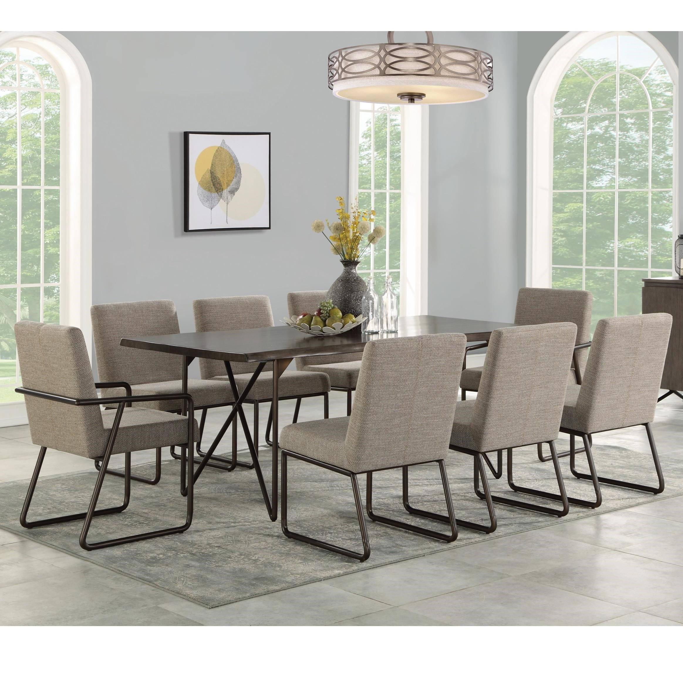 shadow 9 piece table and chair set