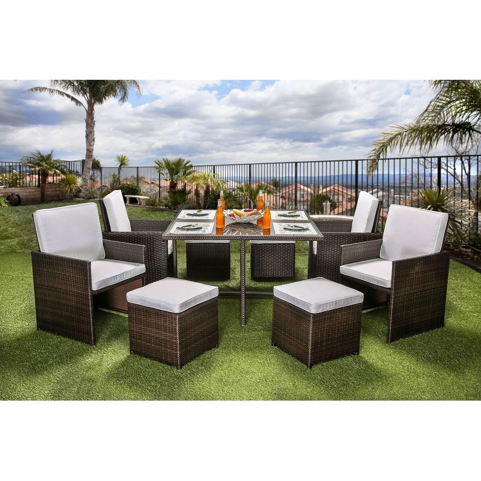 keisha 9 pc patio dining set