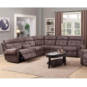 Sectional Sofas   Memphis  Nashville  Jackson  Birmingham Sectional     Happy Leather Company 1378 Power Reclining Sectional