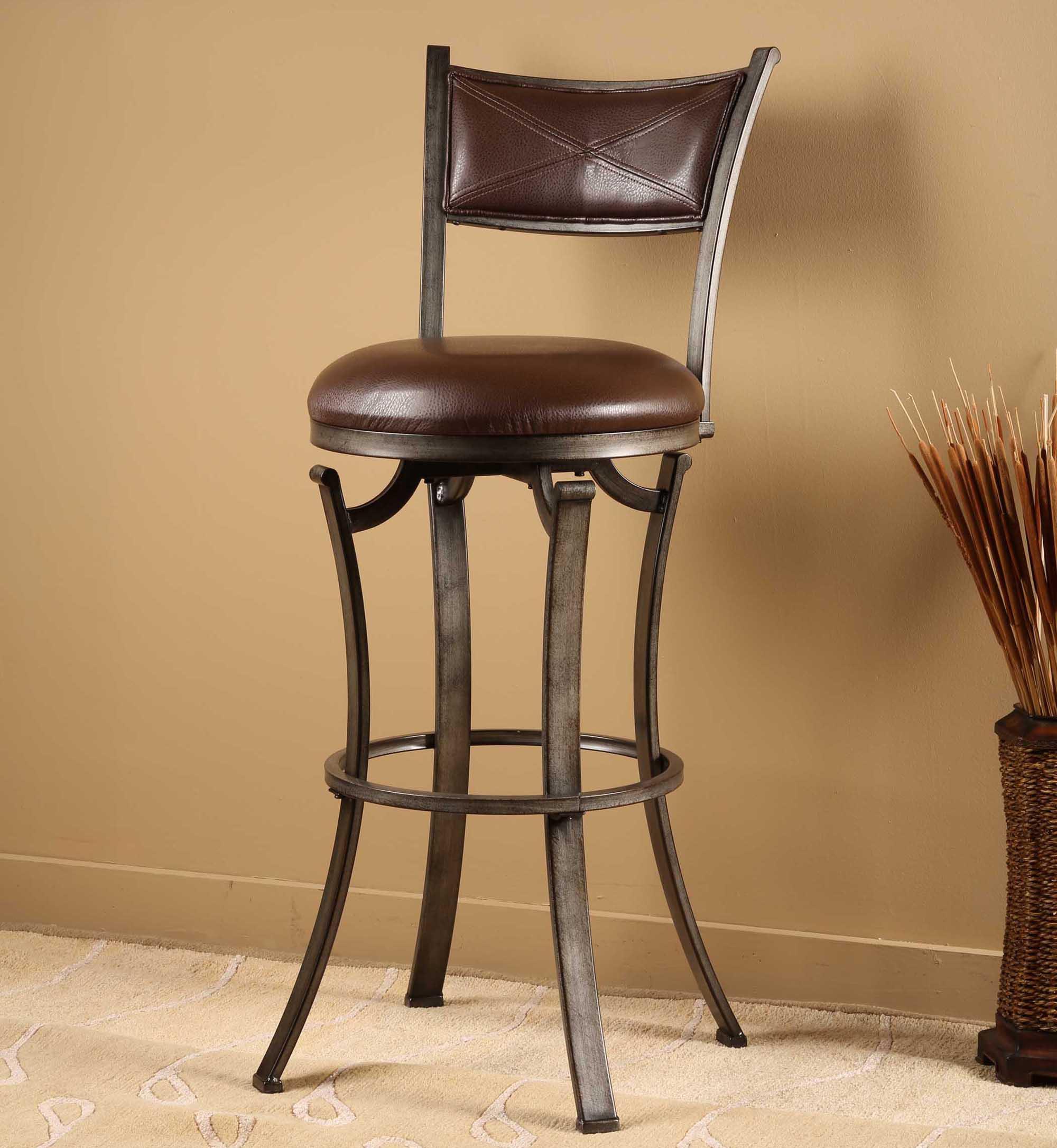Hillsdale Stools Drummond Swivel Bar Stool Prime Brothers Furniture Bar Stools
