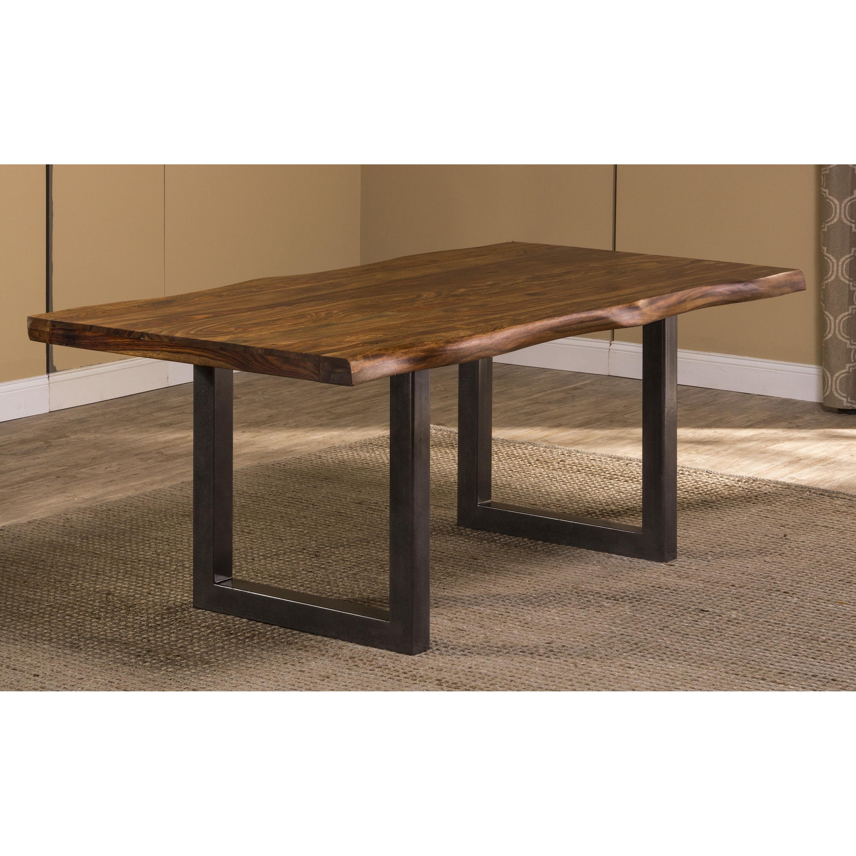 Hillsdale Emerson Natural Sheesham Wood Rectangular Dining