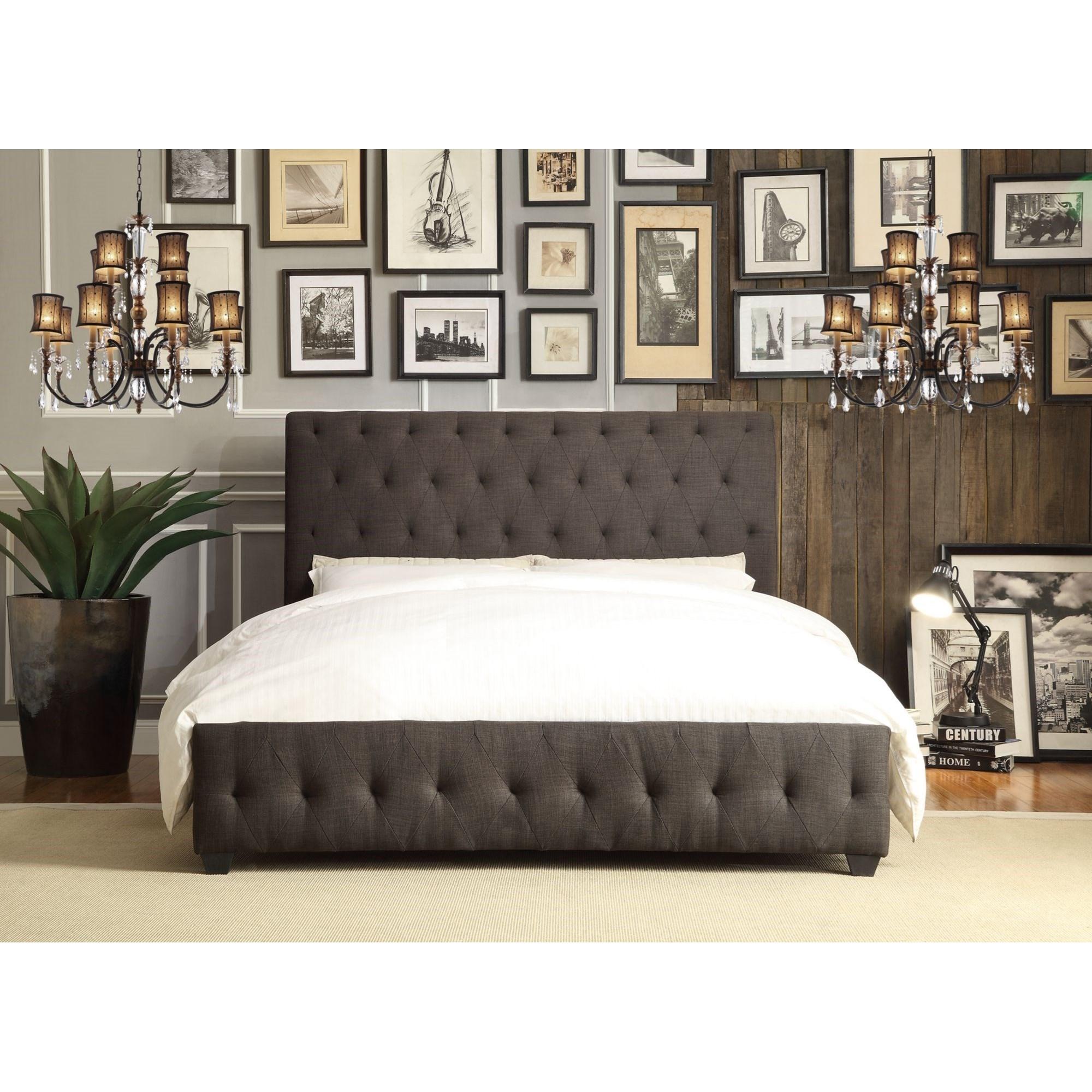 Homelegance Baldwyn Contemporary Full Upholstered Platform