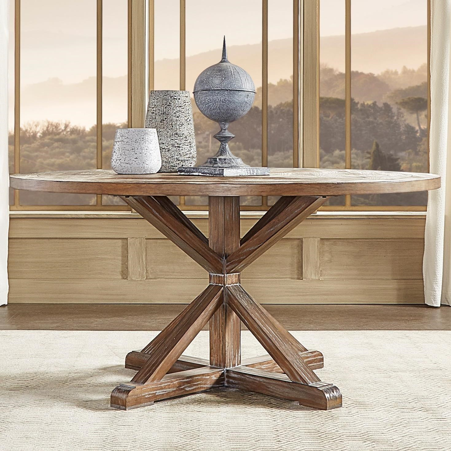 Homelegance E431 Farmhouse Style Reclaimed Wood 60 Round Dining Table A1 Furniture Mattress Dining Tables