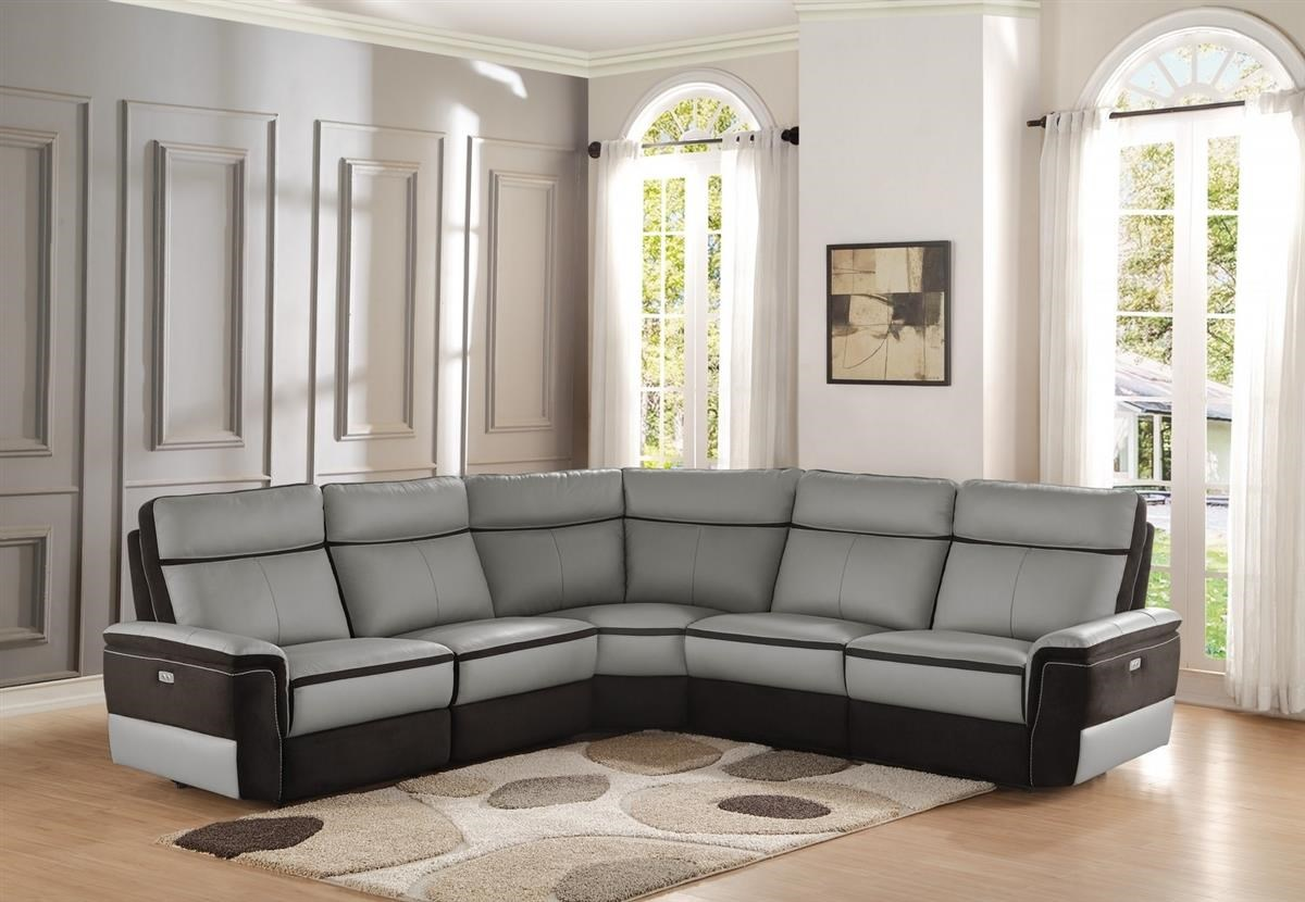 Homelegance Laertes Power Reclining Sectional Boulevard