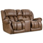 Homestretch Atlantis Casual Power Reclining Console Loveseat With Cup Holders Rife S Home Furniture Reclining Loveseats