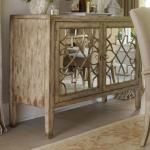 Hooker Furniture Sanctuary Two Door Mirrored Console Howell Furniture Buffets
