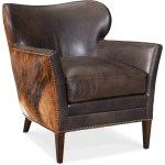 Hooker Furniture Club Chairs Cc469 089 Kato Leather Club Chair With Hair On Hide Outside Back Dunk Bright Furniture Wing Chairs