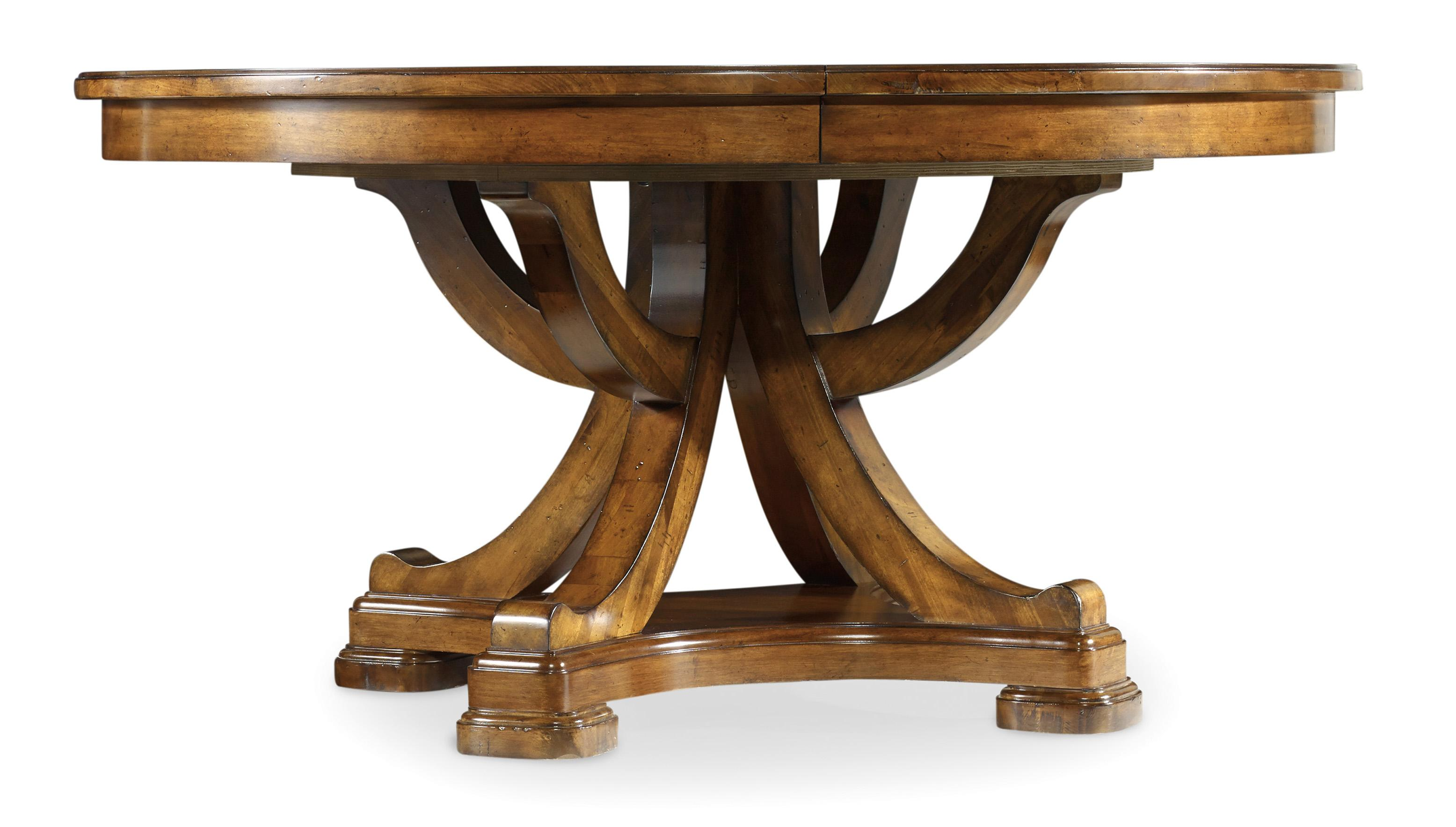 Hooker Furniture Tynecastle Traditional 60 Inch Round Pedestal Dining Table Howell Furniture Dining Tables