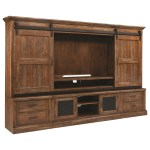 Taos Rustic Entertainment Center Wall Unit With Sliding Barn Doors Sadler S Home Furnishings Wall Unit