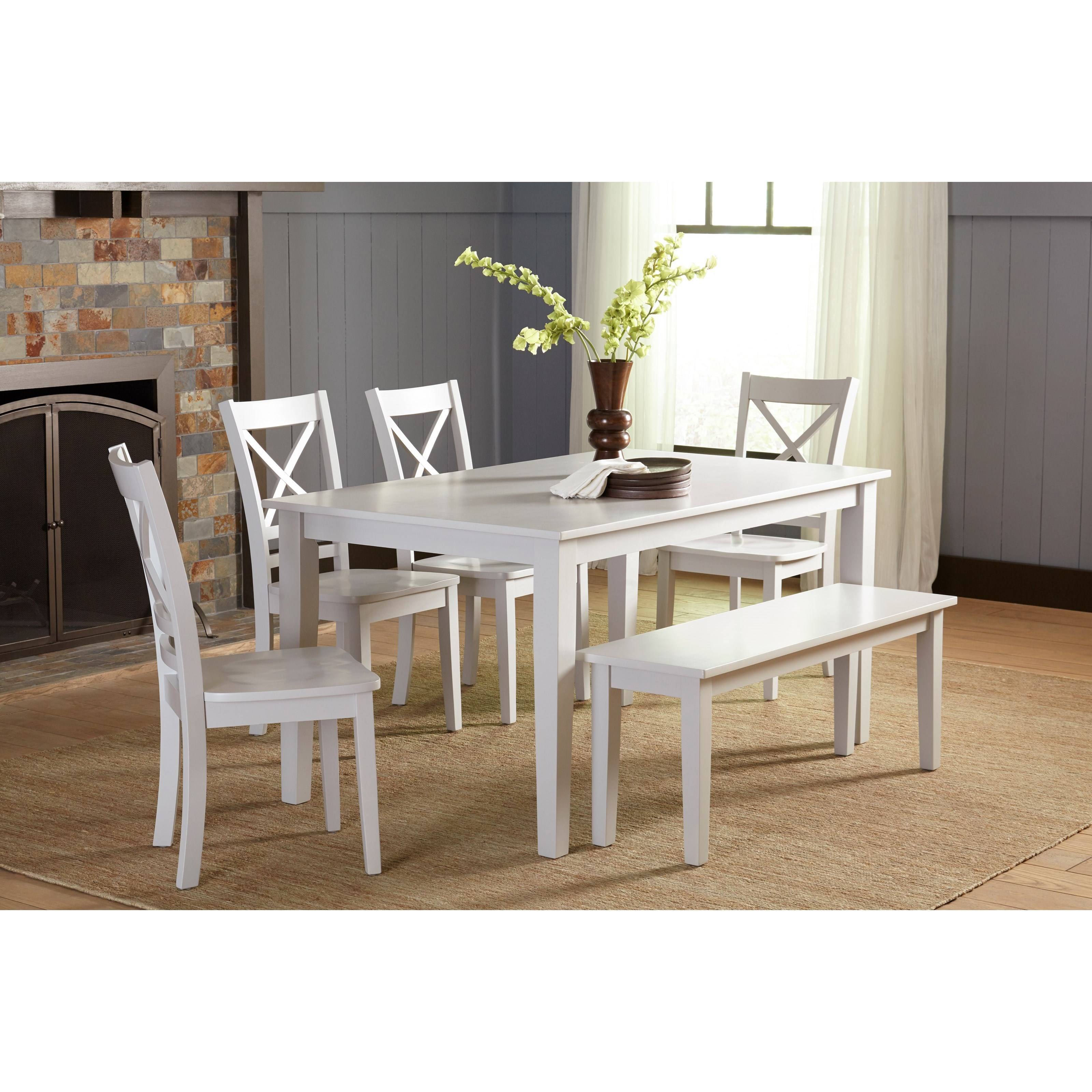 Jofran Simplicity Dining Table And ChairBench Set