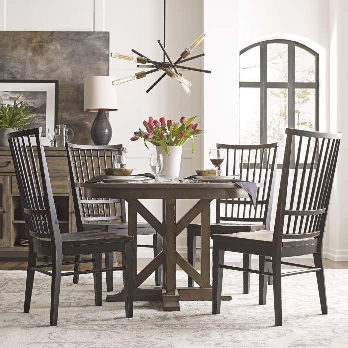 Kincaid Furniture Mill House Dining Table Set With 4 Chairs Belfort Furniture Dining 5 Piece Sets
