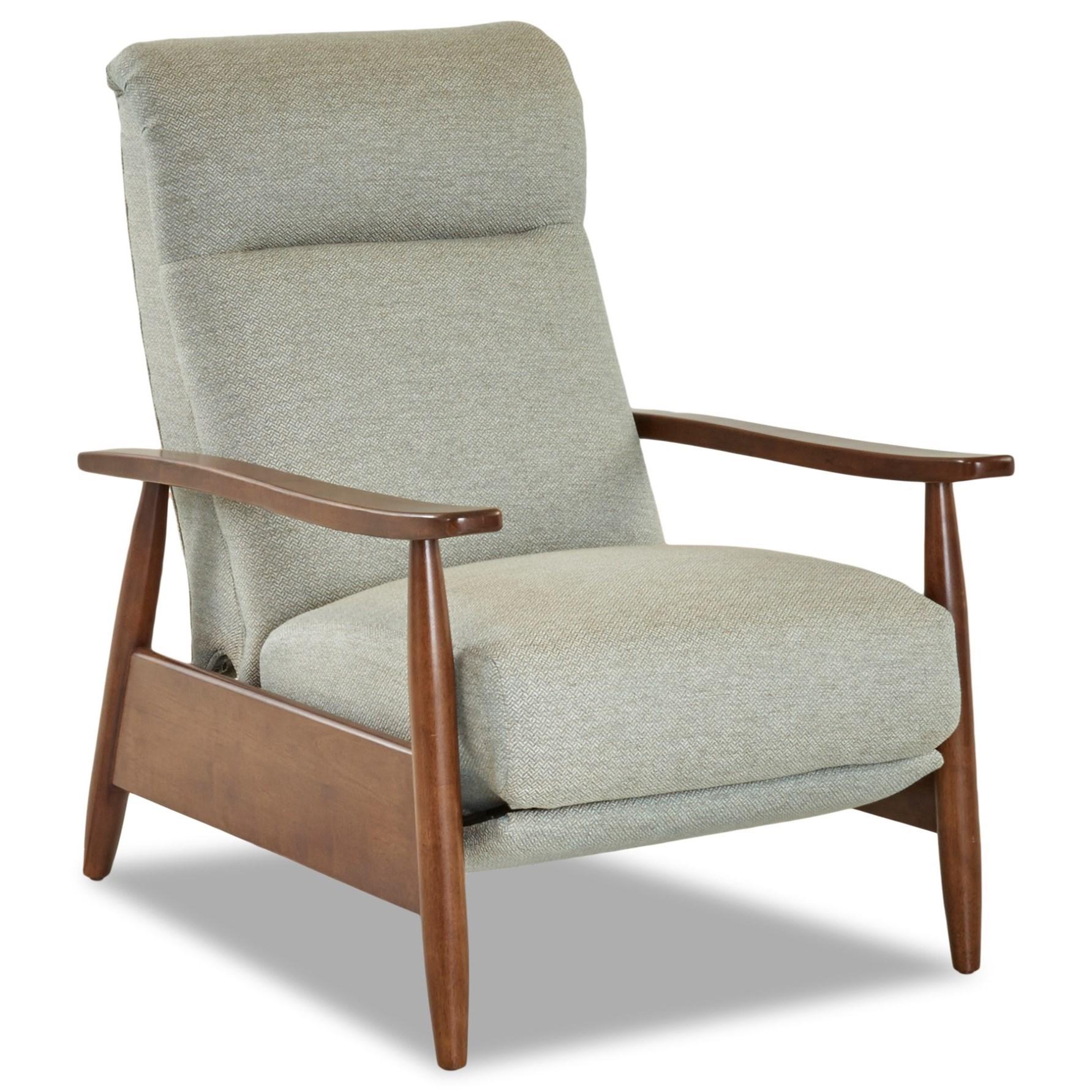 Klaussner Elanor Mid Century Modern Push Back Recliner Value City Furniture High Leg Recliners