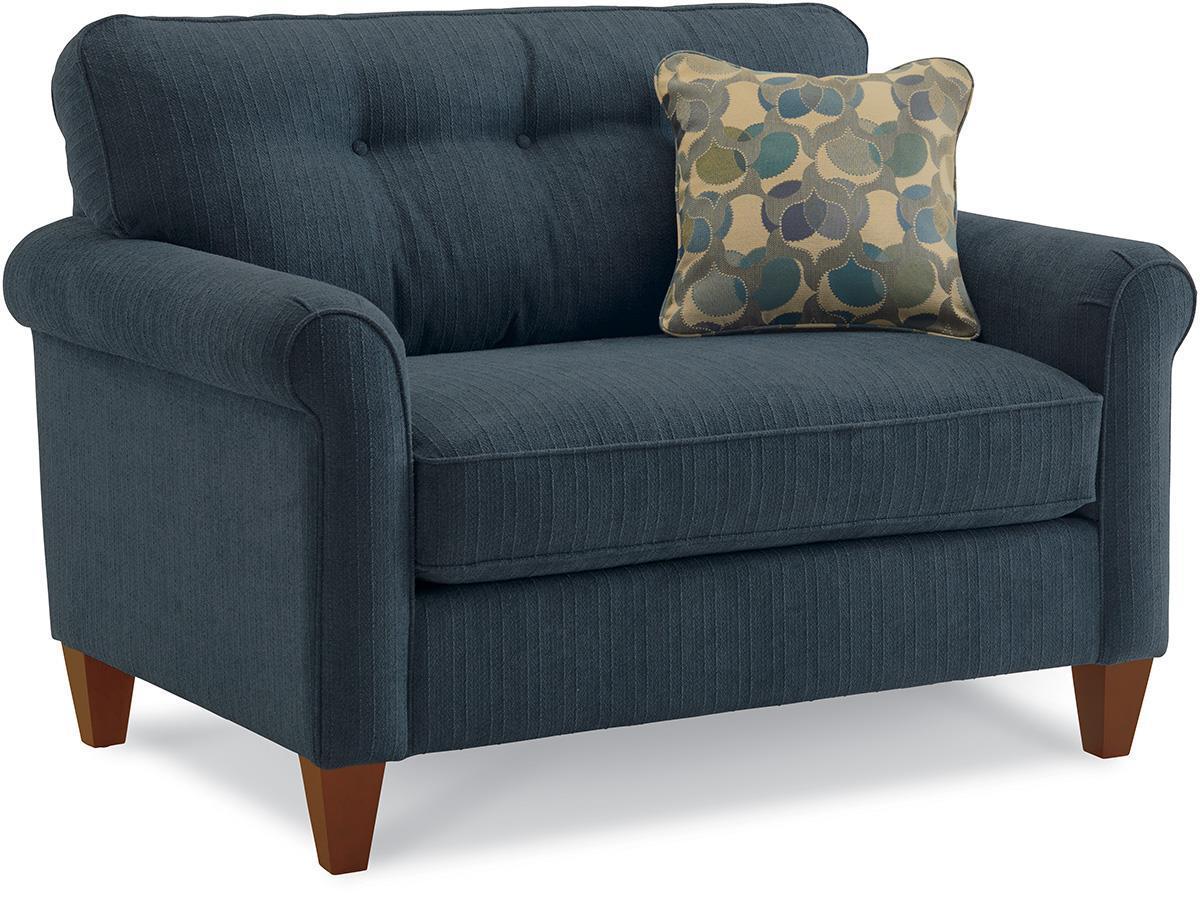La Z Boy Laurel Rolled Arm Chair And A Half Conlins