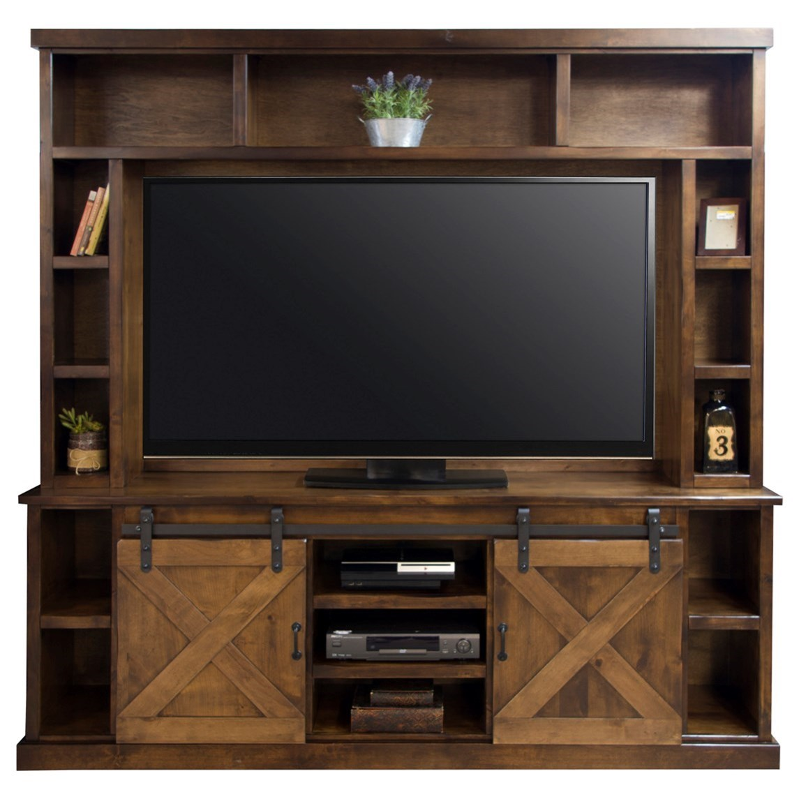 Legends Furniture Farmhouse Collection Entertainment Wall