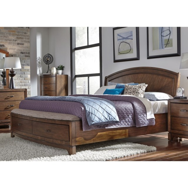 Liberty Furniture Avalon III Queen Panel Storage Bed Wayside