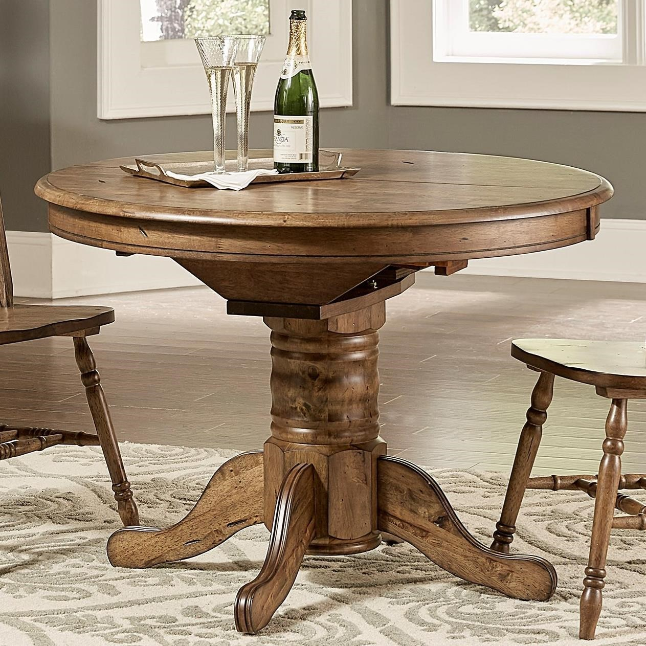 Winchenton Transitional Oval Pedestal Dining Table With