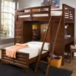 Charlton Lane Twin Loft Bed Unit With Built In Desk And Chest Rotmans Loft Beds