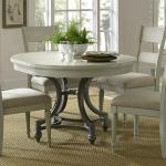 Liberty Furniture Harbor View Round Table With 4 Slat Back Chairs Set Westrich Furniture Appliances Dining 5 Piece Sets
