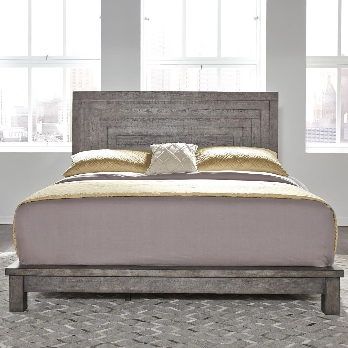 Liberty Furniture Modern Farmhouse 406 Br Qpl Contemporary Queen Platform Bed Hudson S Furniture Platform Beds Low Profile Beds