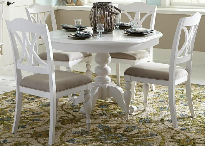 Liberty Furniture Summer House I 607 Cd 5ros 5 Piece Round Table Set With Turned Legs Furniture And Appliancemart Dining 5 Piece Sets