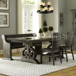 Turnin Table 2 Chairs Bench Walker S Furniture Table Chair Set With Bench