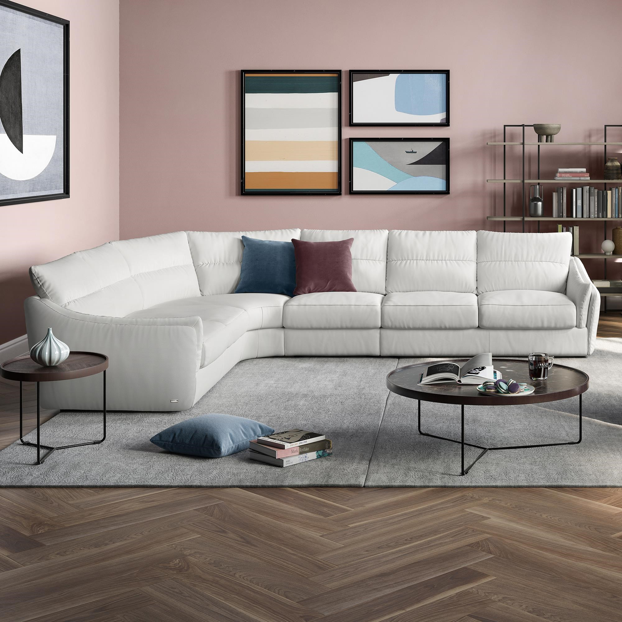 sectional 3 piece leather sectional