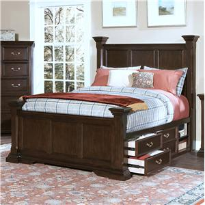 New Classic Timber City Queen Captain S Bed