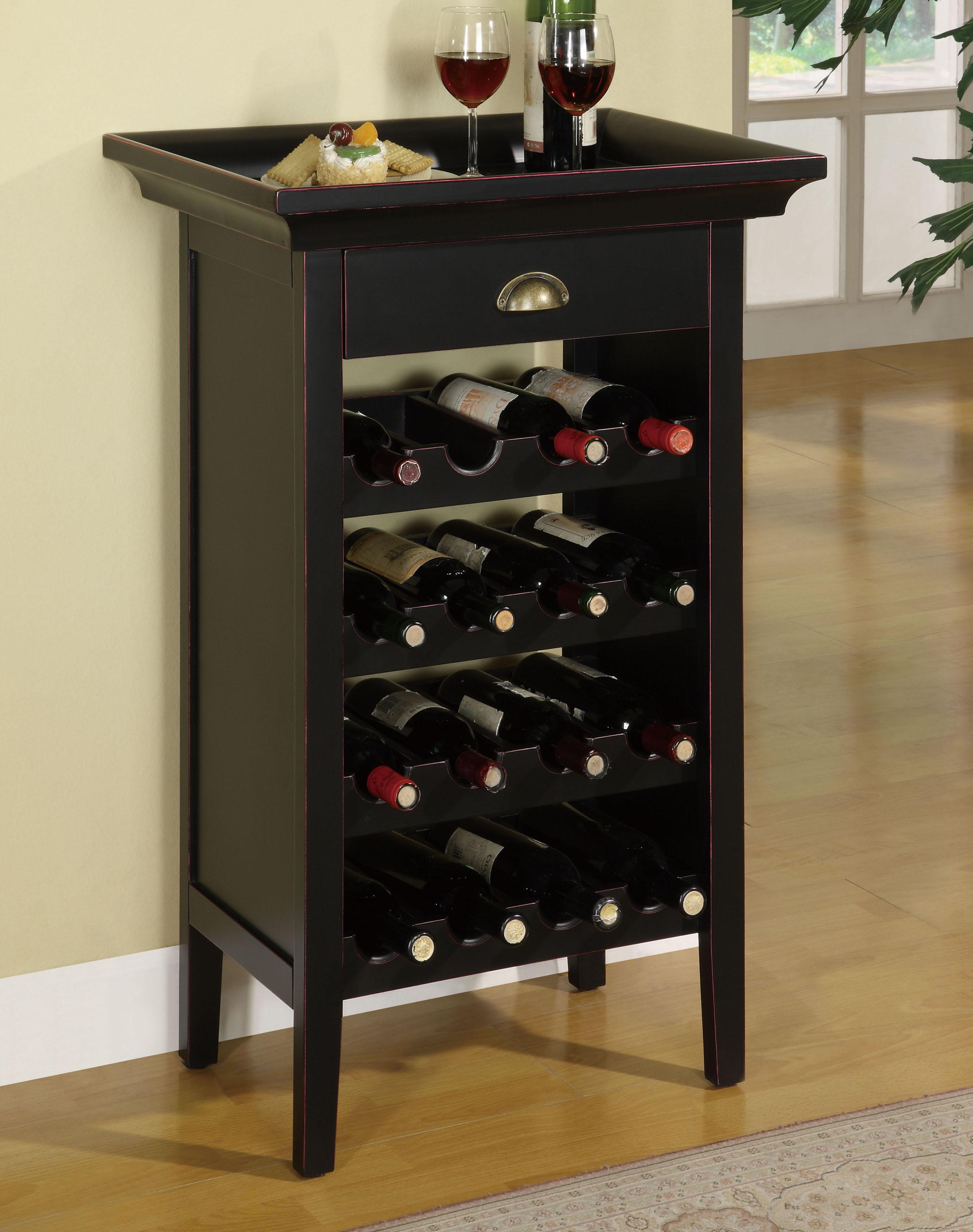 contemporary black wine cabinet