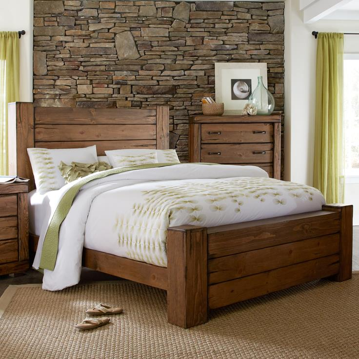 rustic california king panel bed