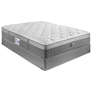 Restonic Hybrid Millenium Queen Firm Mattress Set