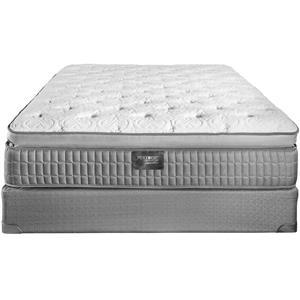 Restonic Sterling Queen Latex Pillow Top Mattress Set