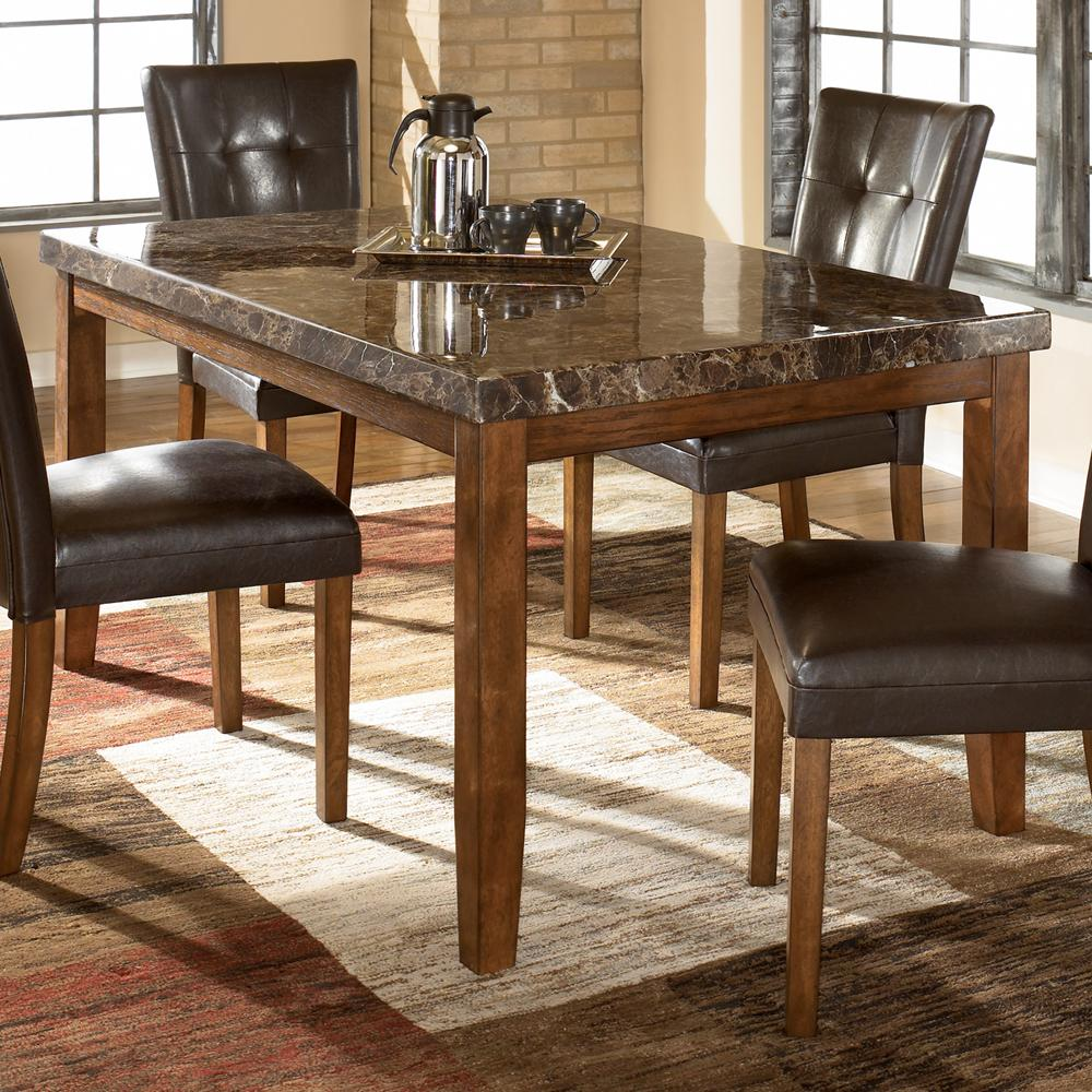 Signature Design By Ashley Lacey Rectangular Dining Table W Faux Marble Top Miskelly