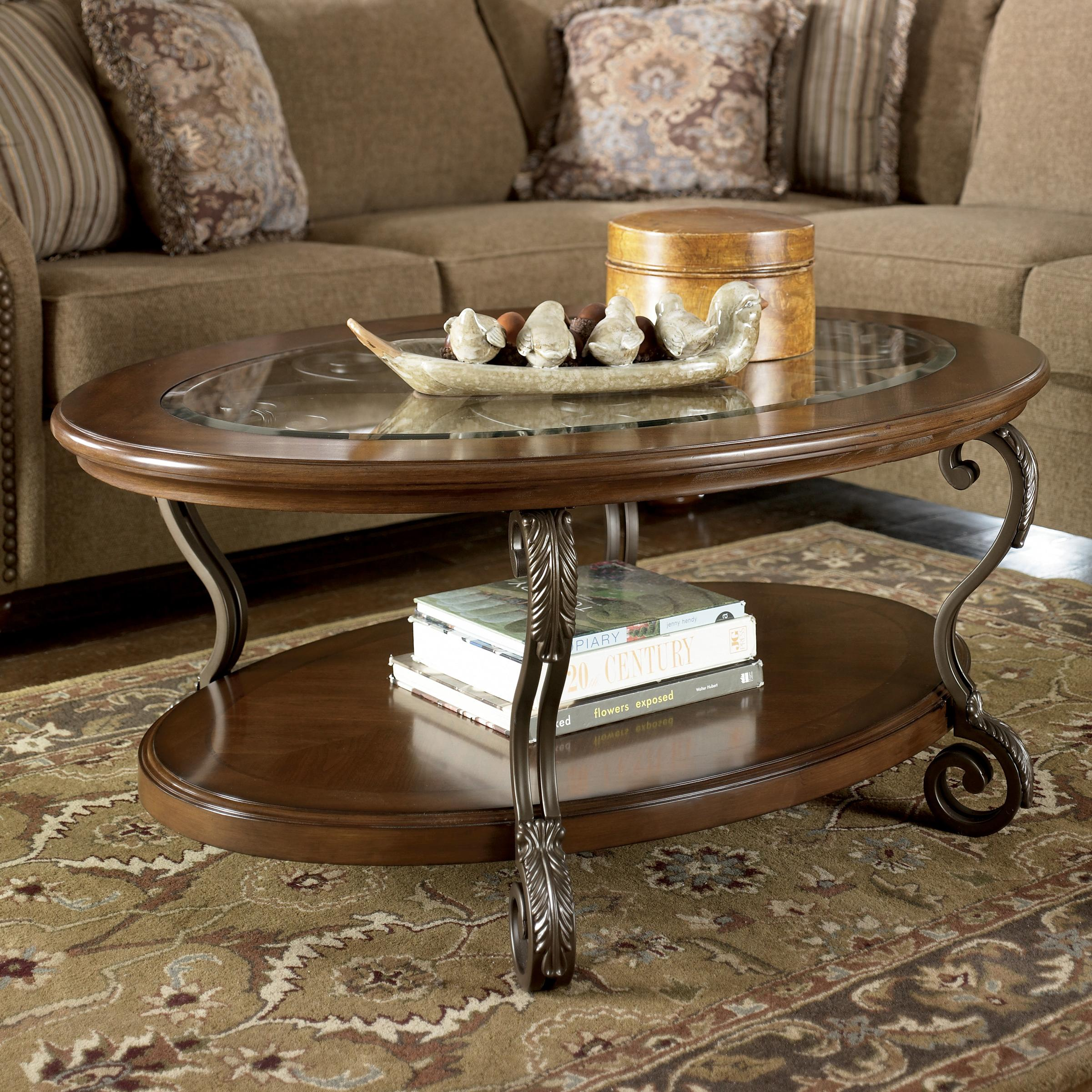 Ashley Signature Design Nestor T517 0 Oval Cocktail Table