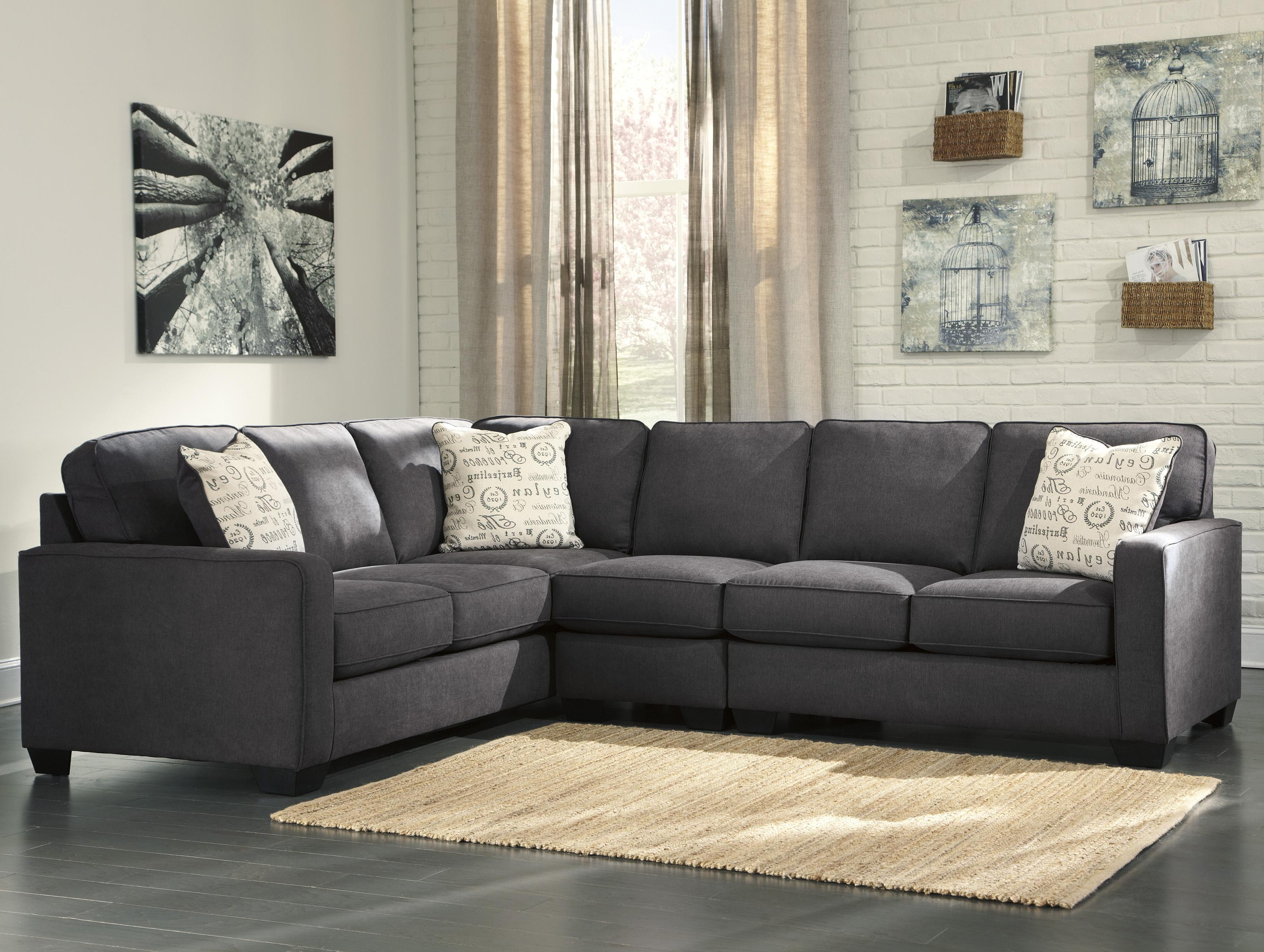 Best Kitchen Gallery: Ashley Signature Design Alenya Charcoal 3 Piece Sectional With of Loveseat Sectional  on rachelxblog.com