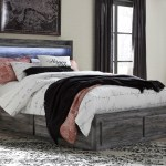 Signature Design By Ashley Baystorm Queen Storage Bed With 6 Drawers Dimming Led Light Corner Furniture Platform Beds Low Profile Beds