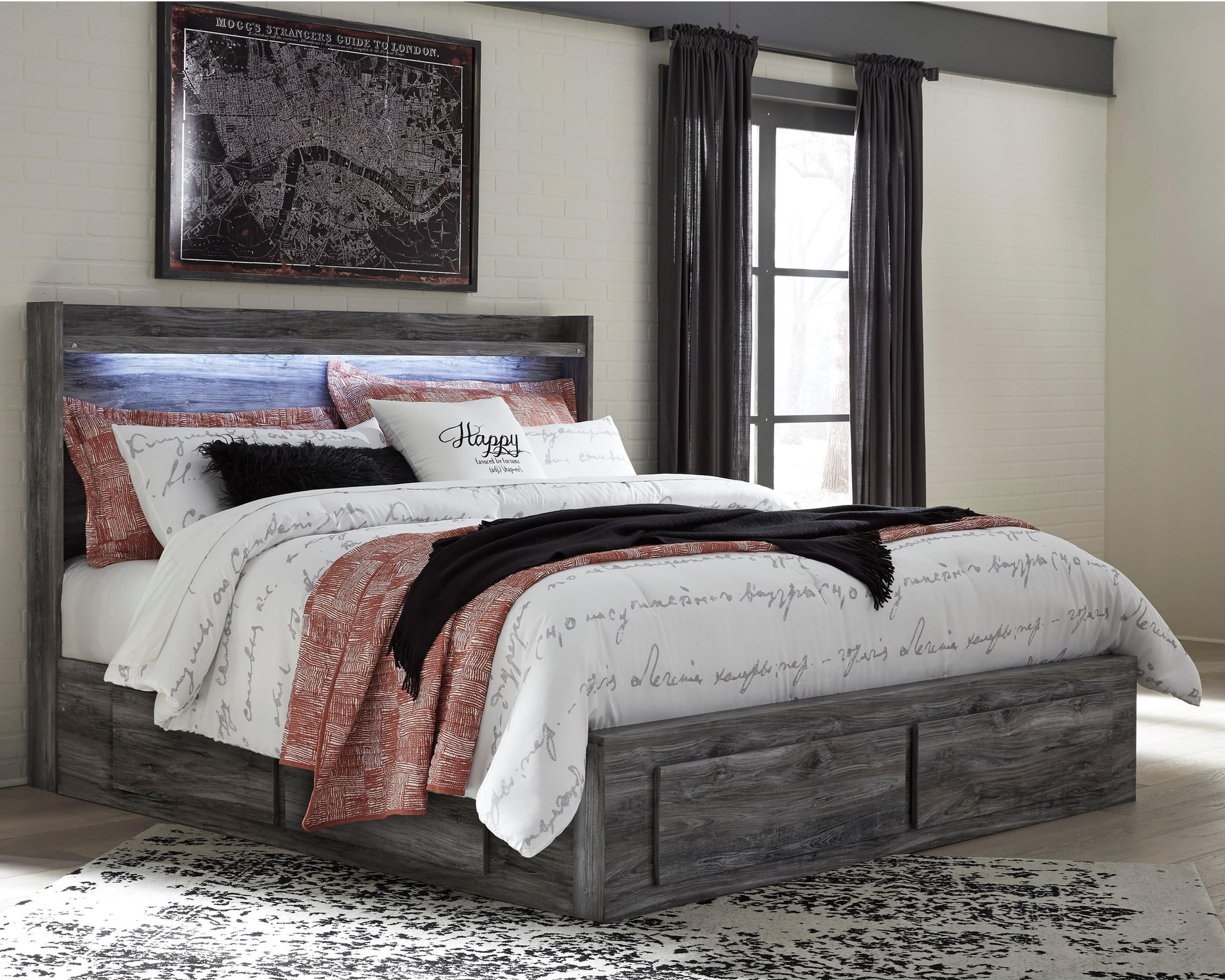 Signature Design By Ashley Baystorm King Storage Bed With