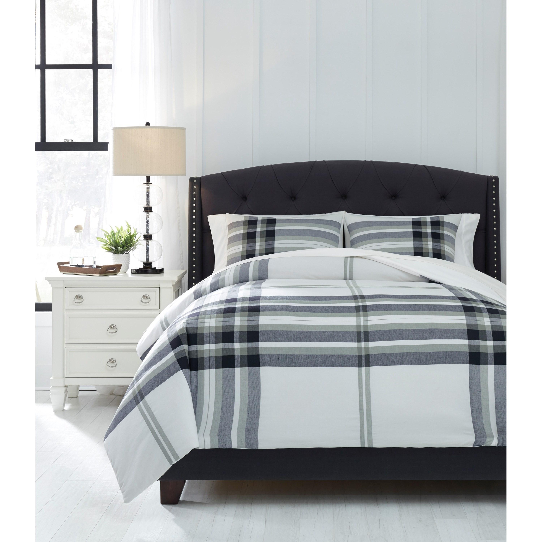 bedding sets queen stayner black gray comforter set