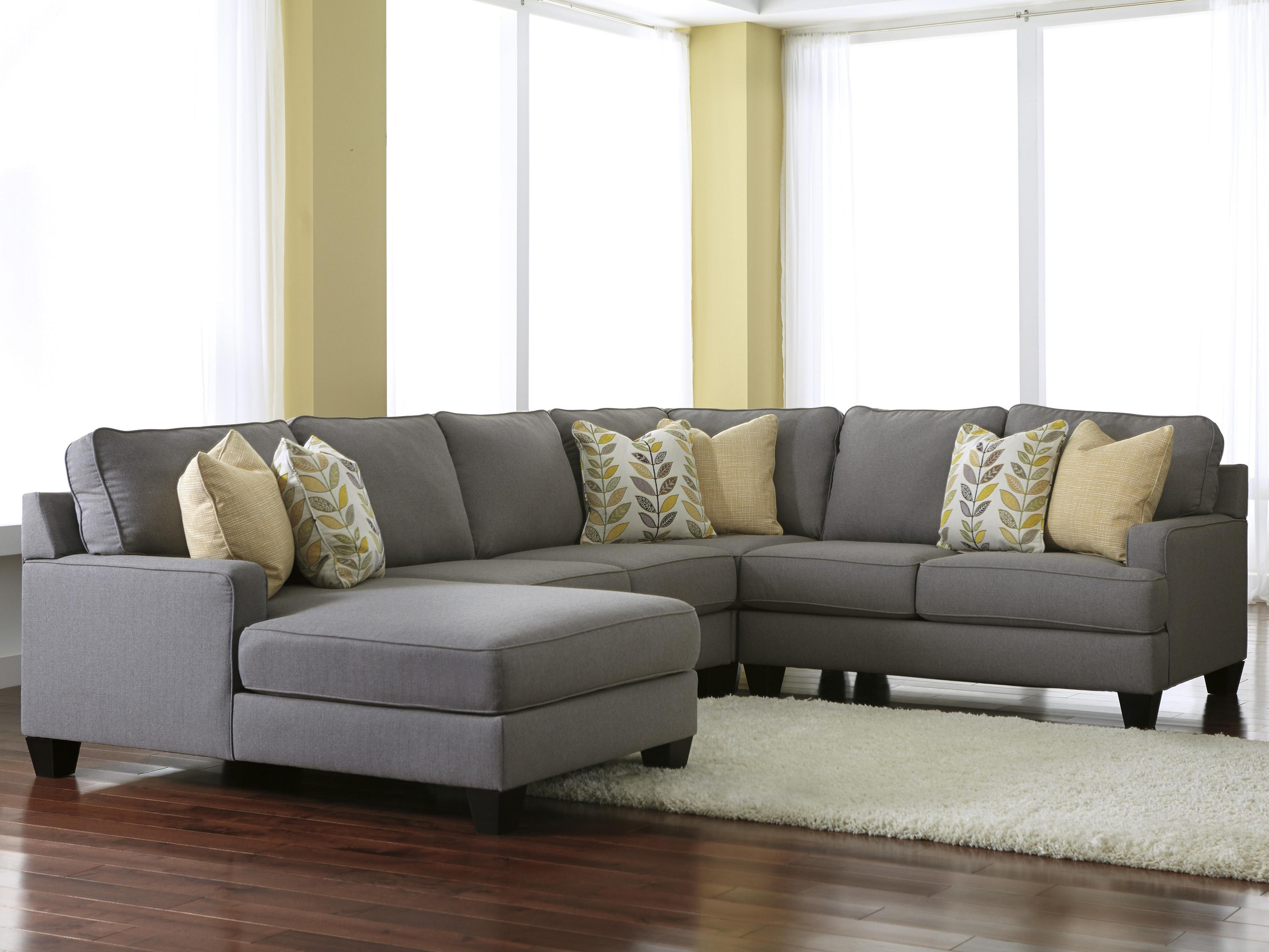 Chamberly Alloy 4 Piece Sectional Sofa With Left Chaise