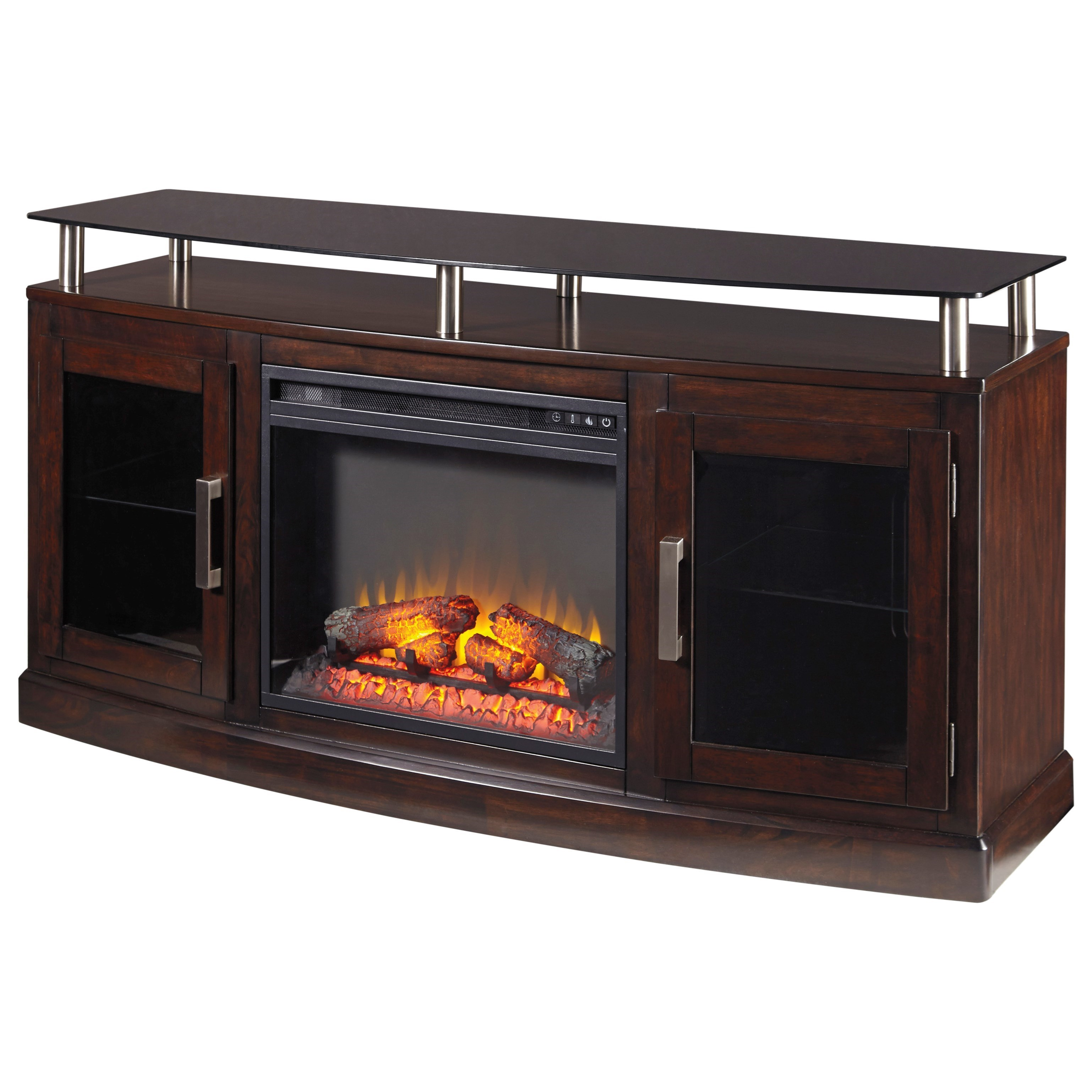 Ashley Signature Design Chanceen Tv Stand With Fireplace