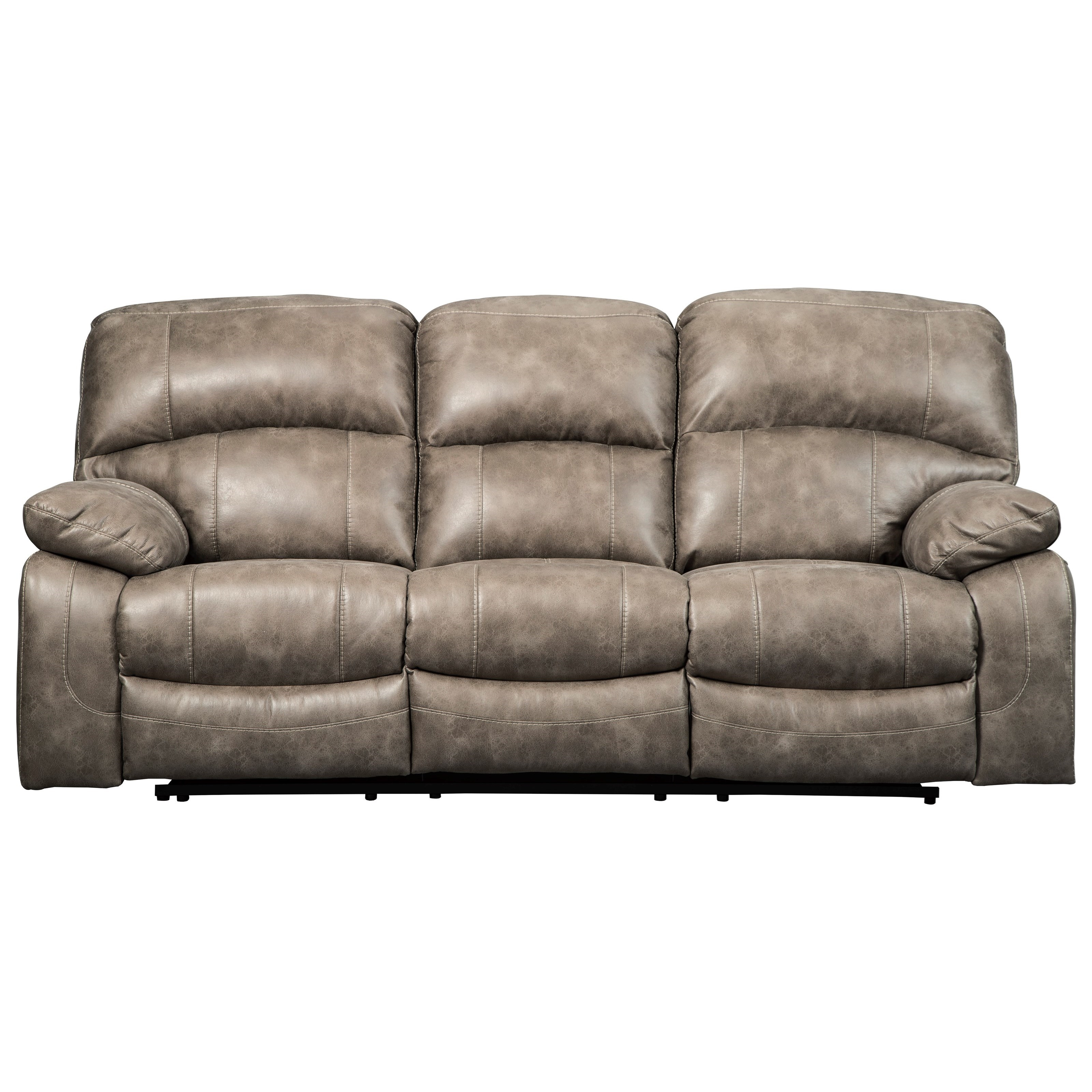 Signature Design by Ashley Dunwell Faux Leather Power Reclining Sofa     Signature Design by Ashley Dunwell Power Reclining Sofa w  Adjustable  Headrests   Item Number