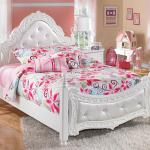 Signature Design By Ashley Exquisite Full Ornate Poster Bed With Tufted Headboard Footboard Wayside Furniture Upholstered Beds