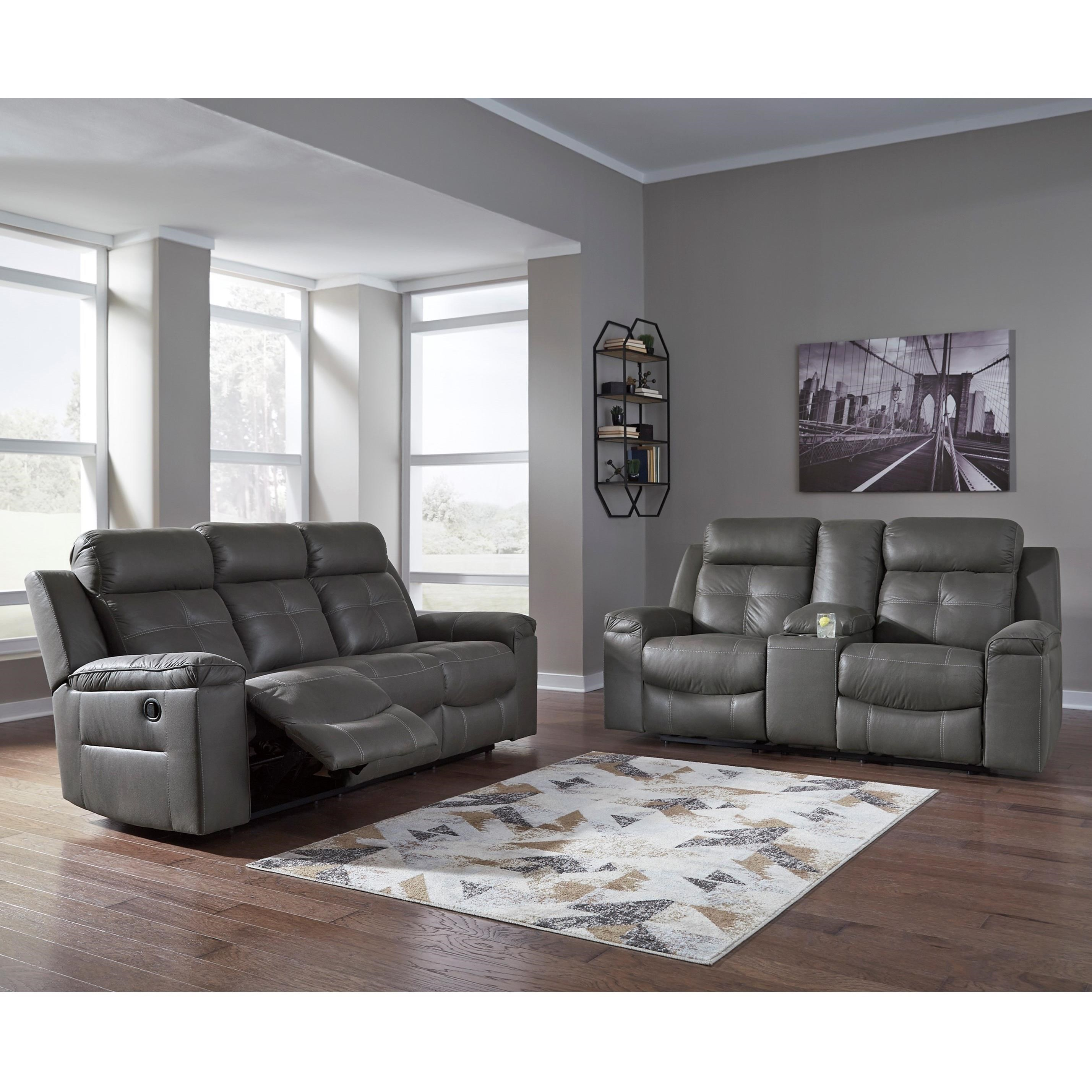 Signature Design By Ashley Jesolo Reclining Living Room Group Furniture Superstore Rochester