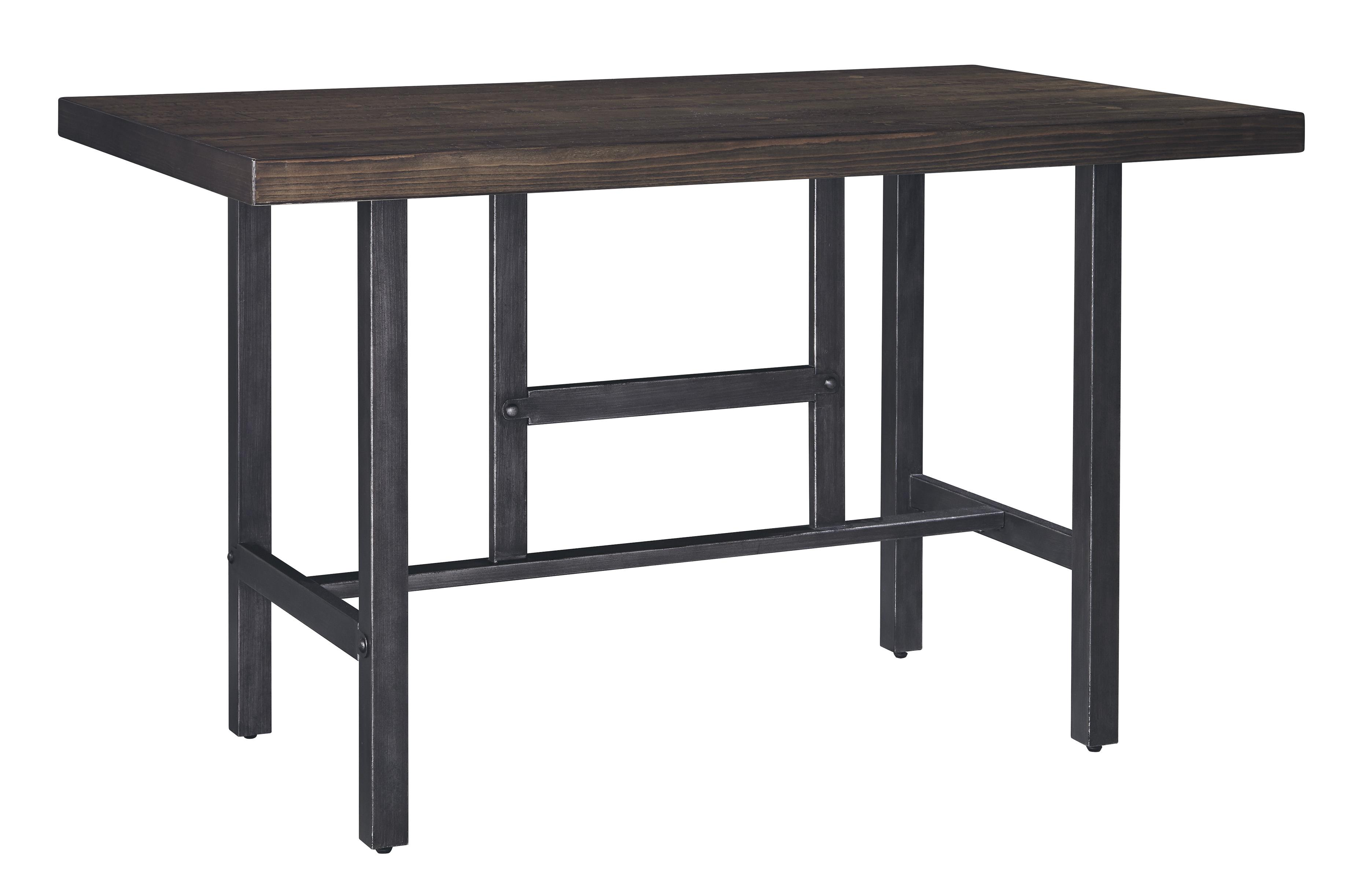 Signature Design By Ashley Kavara Rectangular Dining Room Counter Table W Pine Veneers And
