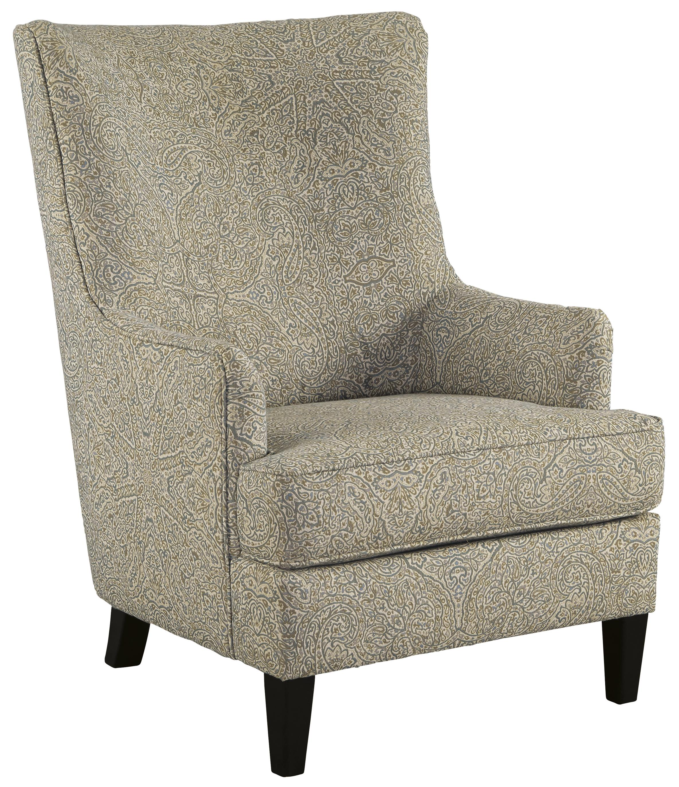 Signature Design By Ashley Kieran Transtional Accent Chair With Wing Back Miskelly Furniture