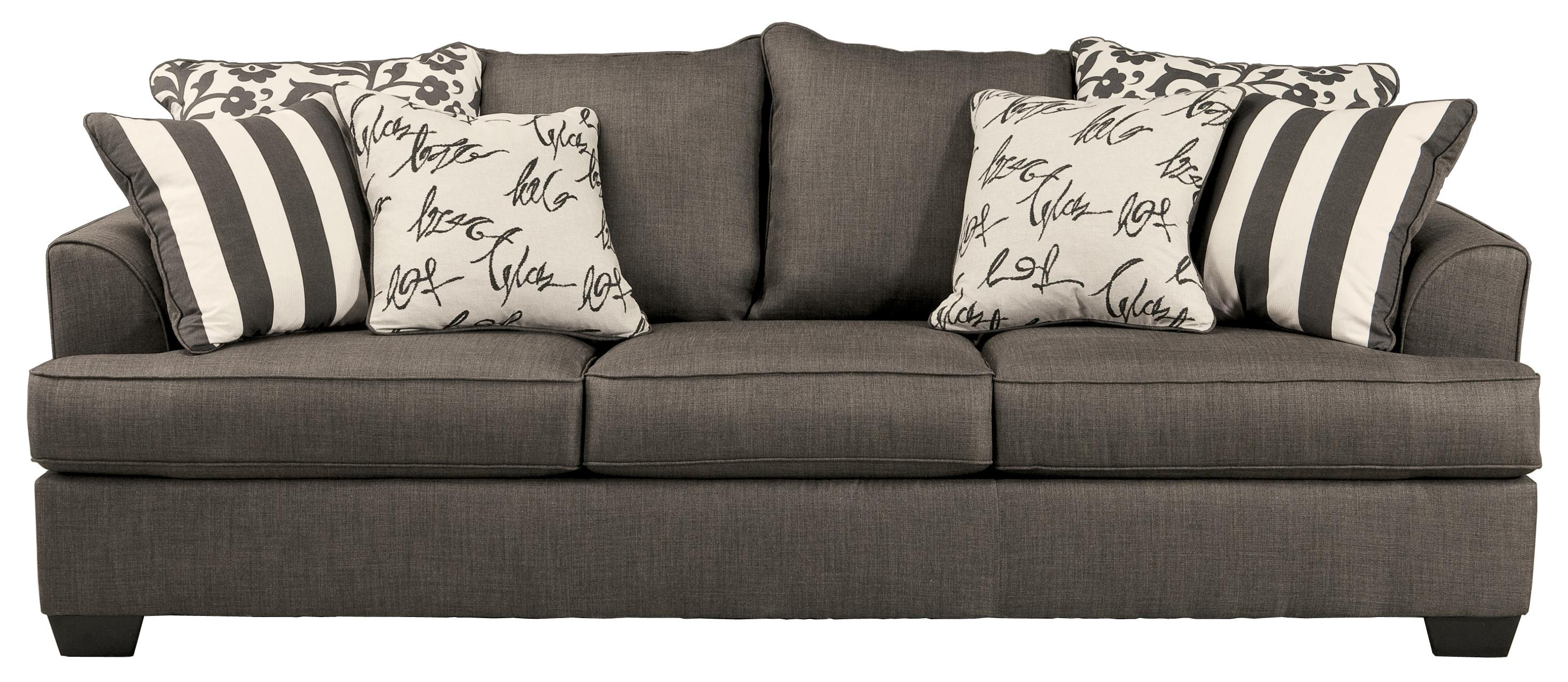 Signature Design by Ashley Levon   Charcoal 7340338 Sofa with     Signature Design by Ashley Levon   Charcoal Sofa   Item Number  7340338