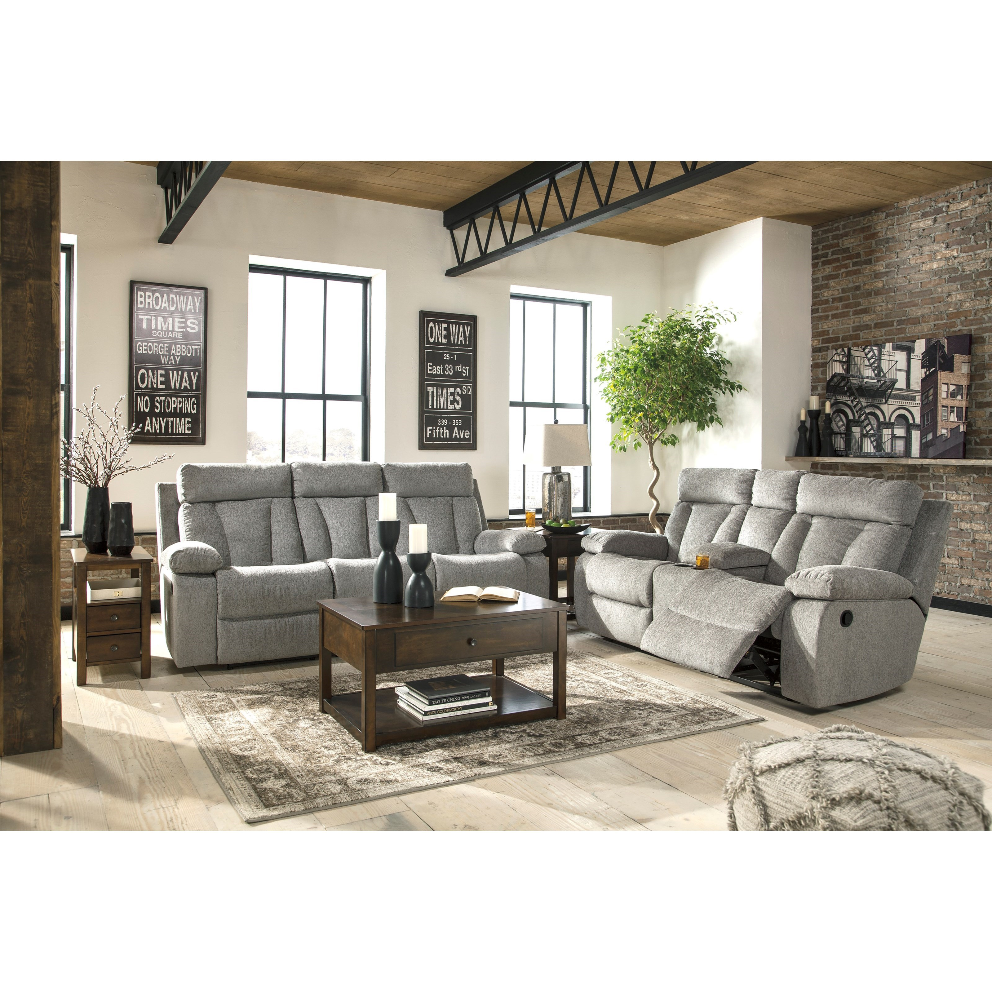 Signature Design By Ashley Mitchiner Reclining Living Room