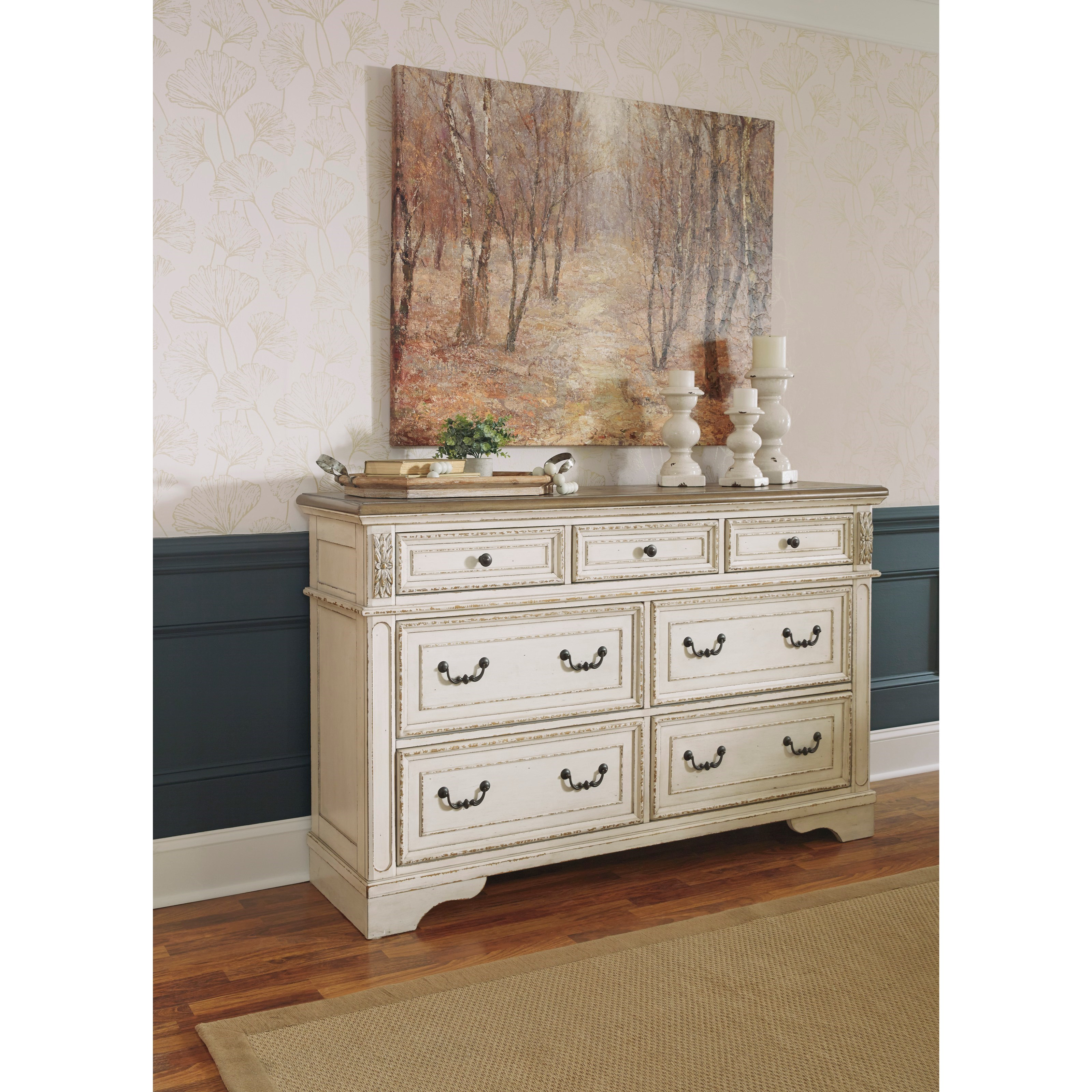 Signature Design By Ashley Realyn Two Tone 7 Drawer