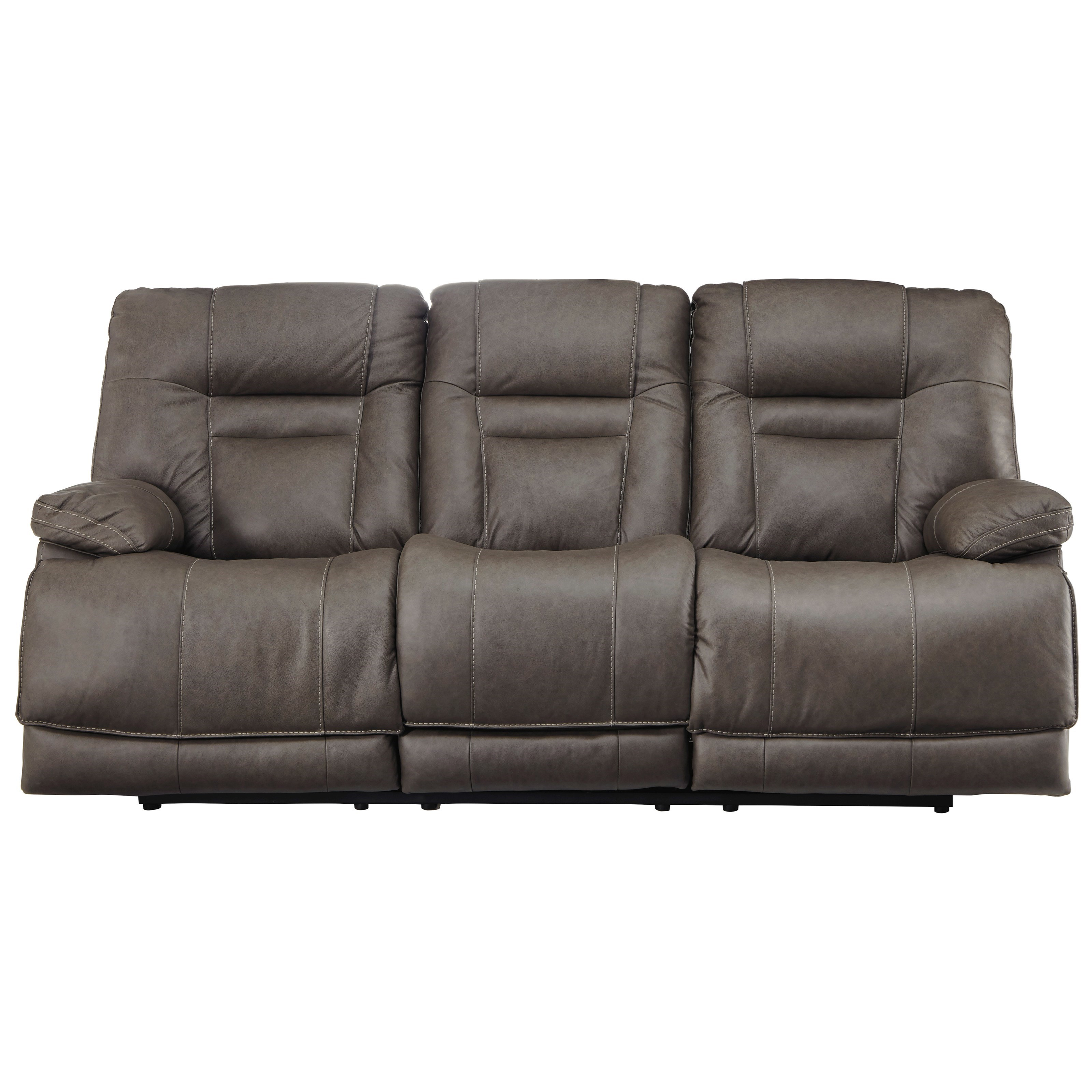 Signature Design By Ashley Wurstrow Power Reclining Sofa With Adjustable Head Rest And Usb Port Wayside Furniture Reclining Sofas