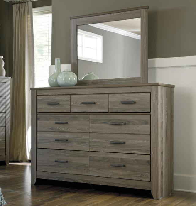 StyleLine BARNWOOD Rustic Tall Dresser & Bedroom Mirror EFO