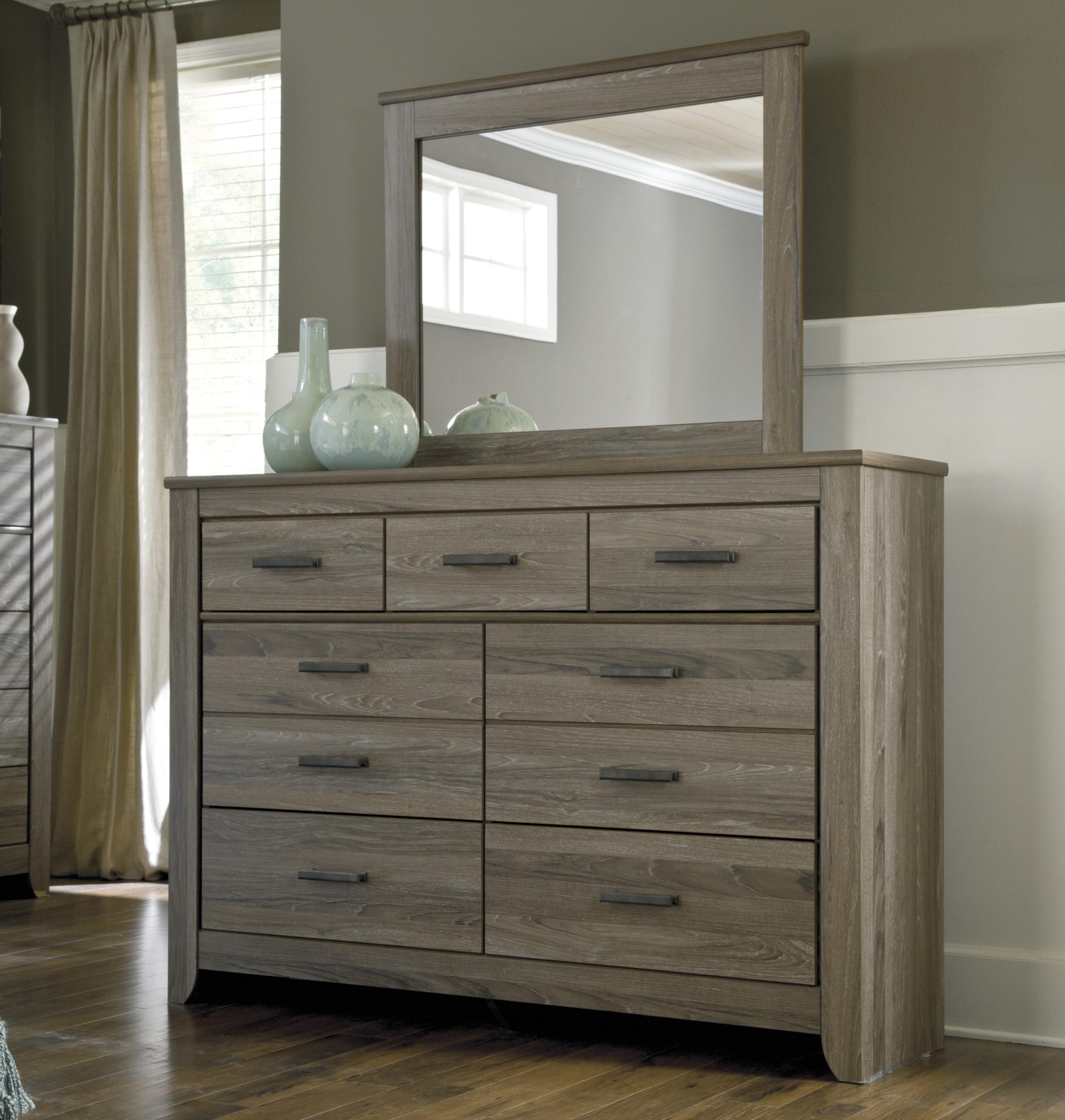 signature design by ashley zelen rustic tall dresser & bedroom